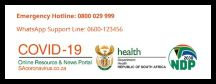 South African Government Covid-19 information website
