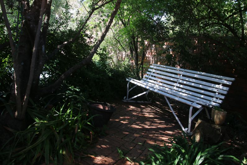 A quiet corner in garden at self-catering accommodation in Johannesburg | Acorns on 8th