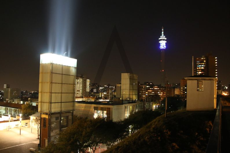 Johannesburg's Constitutional Court, old Fort and Prison and Hillbrow Tower
