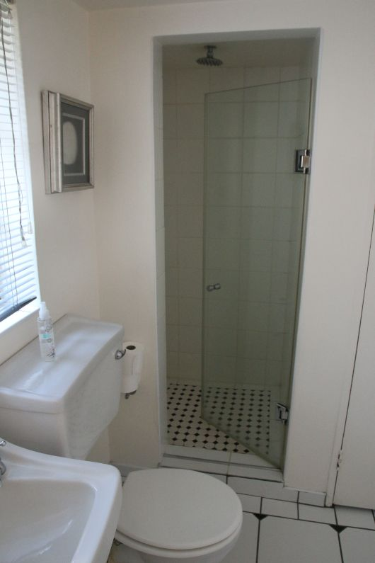 Jazzy budget self-catering bathroom shower in Parktown North | Acorns on 8th