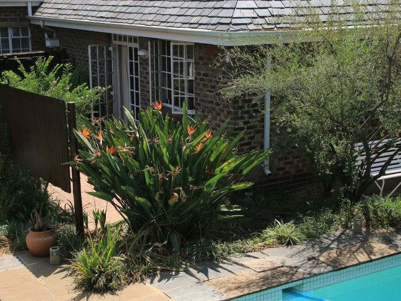 Self-catering pool cottage and private patio