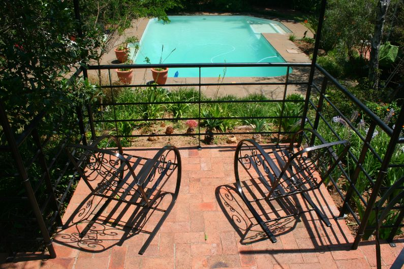 Large outdoor swimming pool at self-catering accommodation in Parktown North Johannesburg | Acorns on 8th
